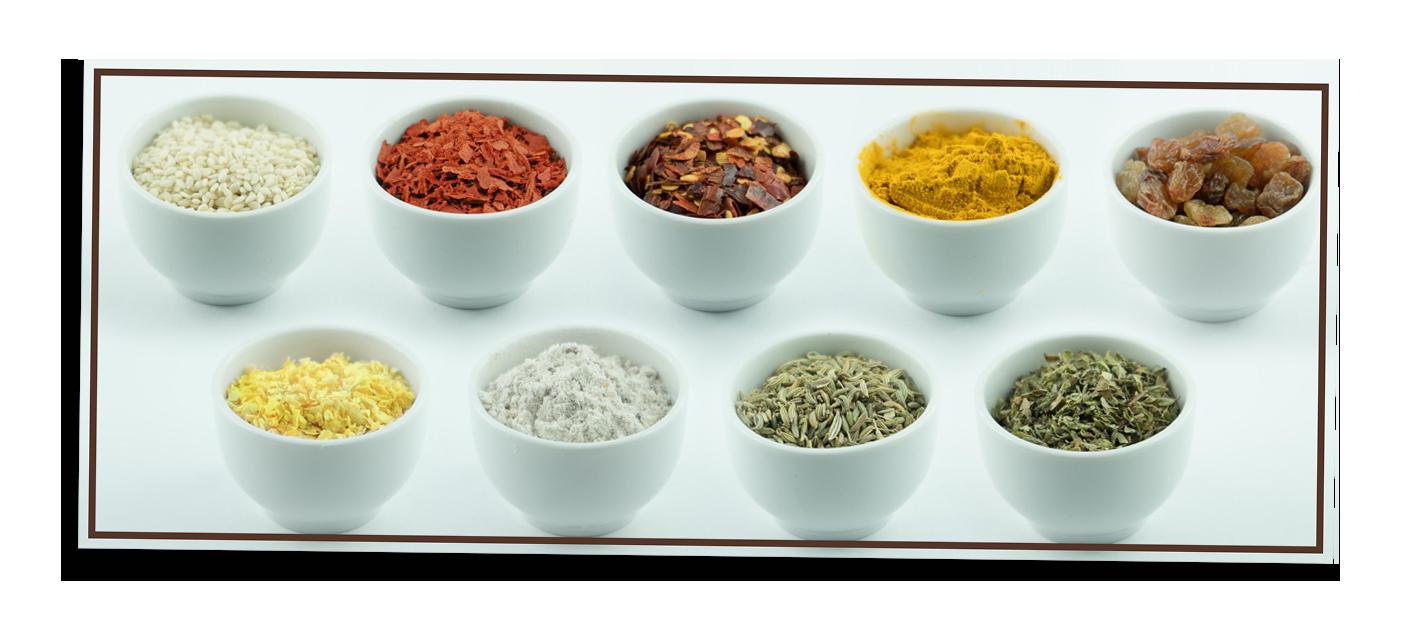 ingredienti selezionati